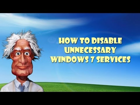 How to Disable Unnecessary Windows 7 Services