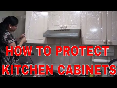 INDIAN NRI KITCHEN | How to clean and protect kitchen cabinets from DAMAGING |Stains | paint peeling