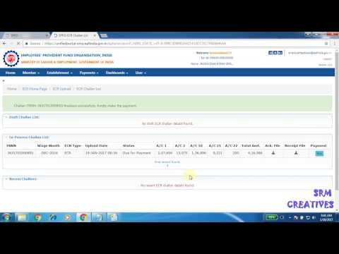 How to upload ECR file / challan new version online