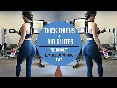 THICK THIGHS & BIG GLUTES WORKOUT | Killer Lower Body Exercises!