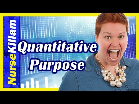 Quantitative purpose wording for writing a research proposal, publication or thesis (Purpose Part 3)