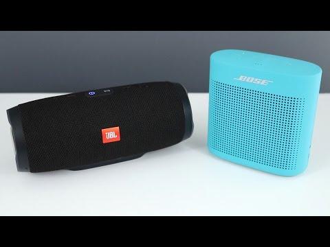 Bose Soundlink Color 2 vs JBL Charge 3 with Sound Comparison