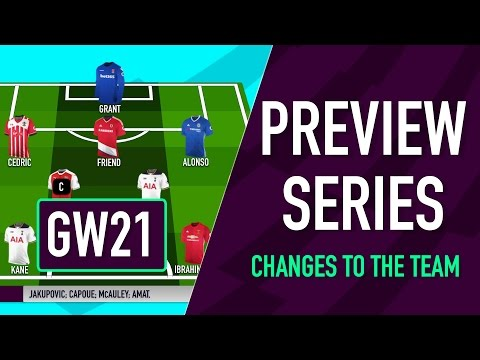 Gameweek 21 Preview | CHANGES TO THE TEAM | Fantasy Premier League 2016/17