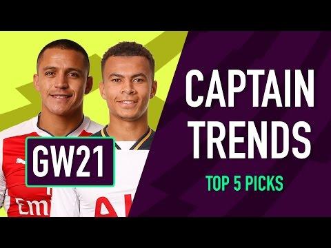 CAPTAINCY TRENDS | Gameweek 21 | Fantasy Premier League 2016/17