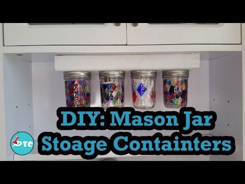 How to make a DIY mason jar storage container