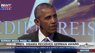 WATCH: Former President Obama FULL SPEECH After German Award (FNN)