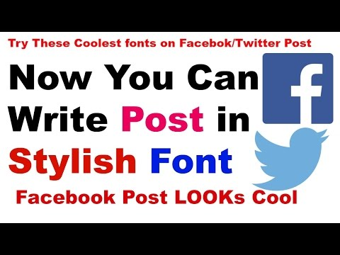 How To Write Different Fonts On Facebook | Stylish Font | Coolest Font | YouTube