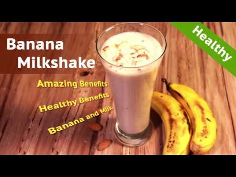 banana milkshake | how to make banana milkshake | healthy drinks