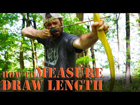 How to measure draw length on a long bow, recurve, or self bow.
