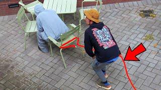 Chair Pulling Rope Prank