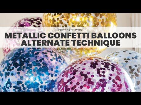 Quick Tip: Metallic Confetti Balloons (Alternate Technique)