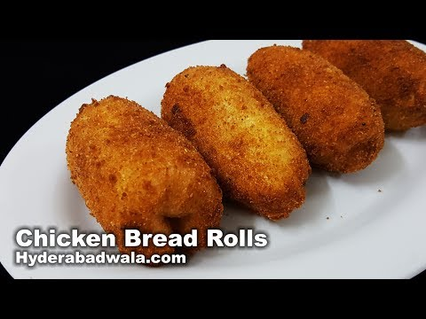 Chicken Bread Rolls Recipe Video - Chicken Double Roti Rolls - Easy, Quick & Simple Snack