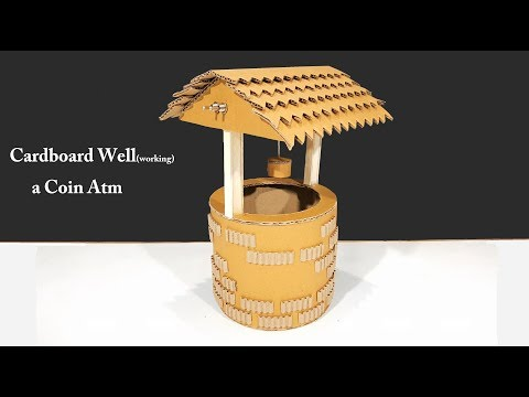 How to Make a Cardboard well A working Coin ATM Machine