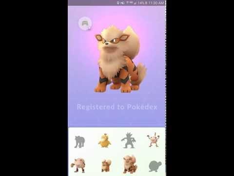 Pokemon Go- Growlithe Evolves!