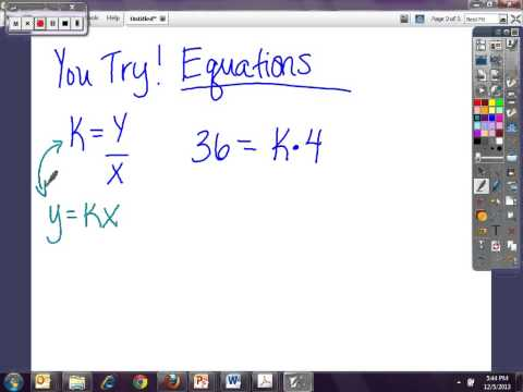 Finding the constant using a table, equation and graph