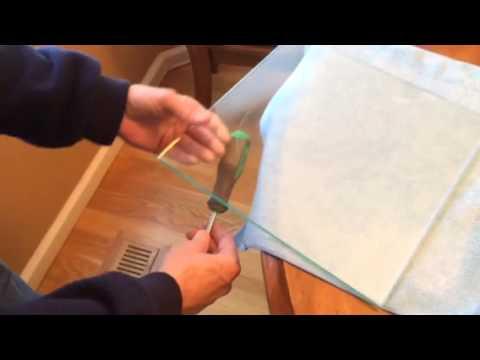Cutting Circle in 1/4 Inch Glass - Telescope Mirror