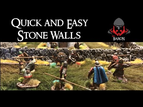 Quick and Easy Stone Wargaming Walls