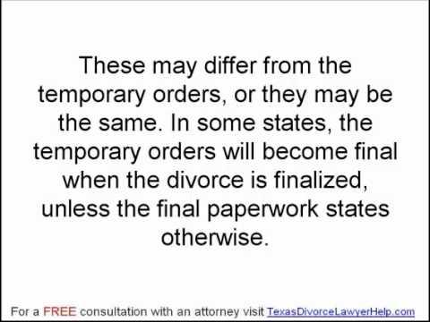 Texas Family Law: Filing a Divorce Suit Part 2