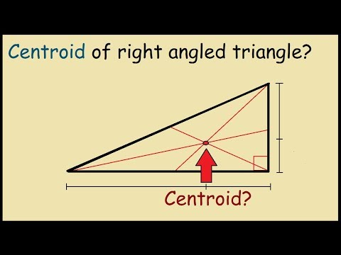 Centroid of a right angle triangle (Graphical Proof)