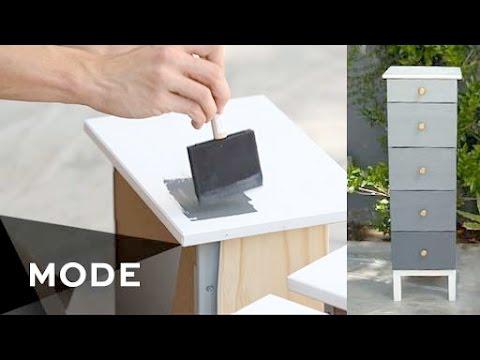 DIY Ombre Dresser   Right at Home ★ Glam.com