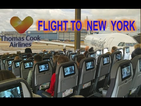 My Flight to New York From Manchester  - Thomas Cook Airlines 4K