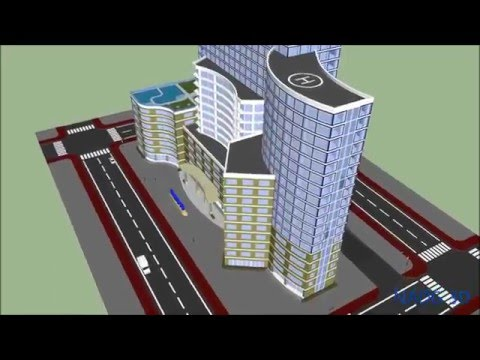 SketchUp Animations 3D Simulation - Construction Sequence - Building Tower