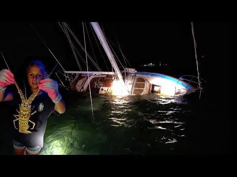 Nighttime Lobstering (Bully Netting) and we find a Shipwreck