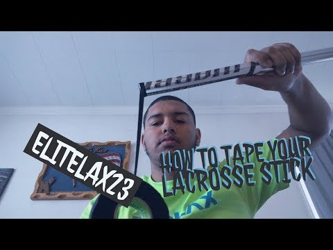 How to tape your lacrosse stick