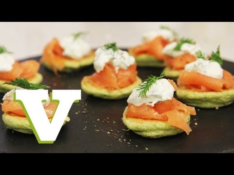 Pea Blinis With Smoked Salmon: Dinner Delights