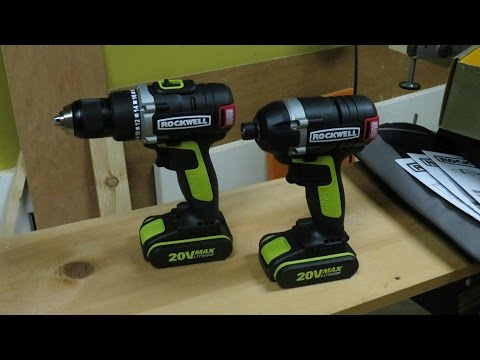 Rockwell Brushless Drill and Driver set