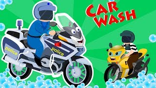 Street Bike Car Wash | Street Vehicle Videos For Toddlers | Cartoon For Babies by Kids Channel