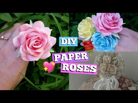 HOW TO MAKE PAPER ROSES ♡DIY with Daisy♡