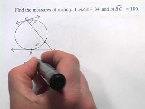 Angles and Arcs Formed by Tangents, Secants, and Chords