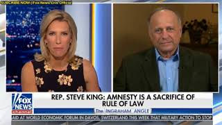 Laura Ingraham opening Fox News show (ft Steve King) 01.26.2018