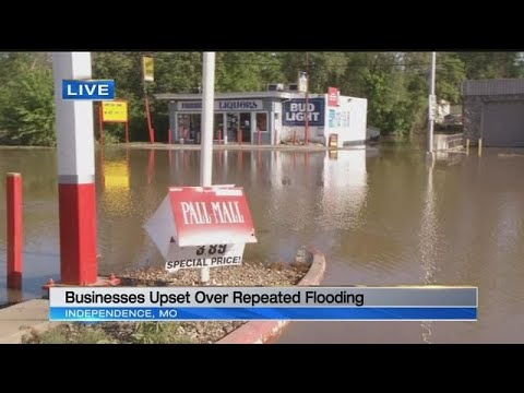 Business owners in Independence, Spring Hill upset about repeated flooding
