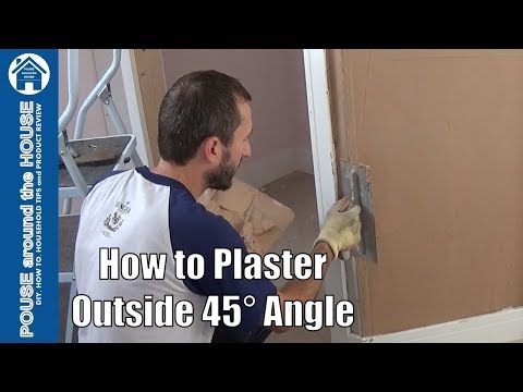 How to plaster an outside 45° corner, beginners guide! Plastering tips for DIY enthusiasts.