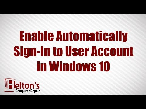How to Automatically Sign in to User Account at Startup in Windows 10