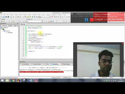 Develop a C++ program to find first and last digit of any number.T