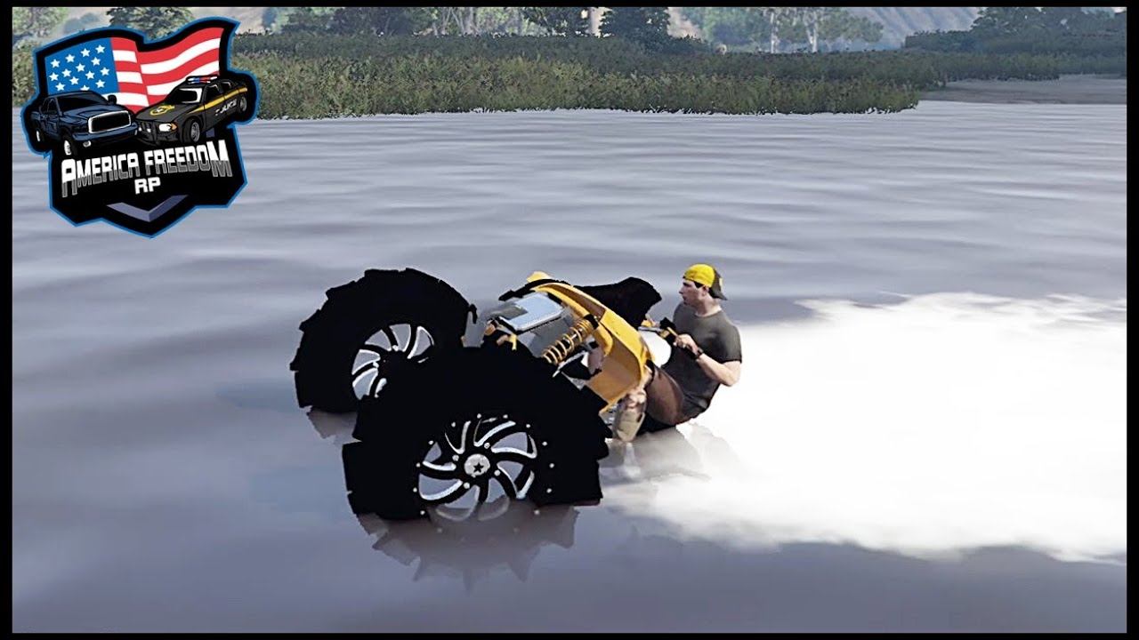 HUGE CAN-AM DOING WATER WHEELIES!! - GTA 5 ROLEPLAY - America Freedom RP