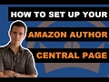 How to Setup an Amazon Author Central Account and Author Page