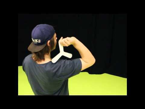 How to throw an indoor boomerang