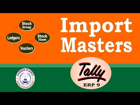 How to Import Masters in Tally ERP 9 Part-118| Learn Tally ERP 9 in Hindi