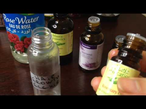 How to make your Hair grow faster and thicker  using Rosewater and Essential Oils