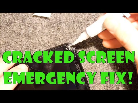 Temporary Cracked Screen Repair & Glass Screen Protector How to