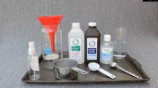 DIY Homemade Hand Sanitizer Formula from WHO -- Updated