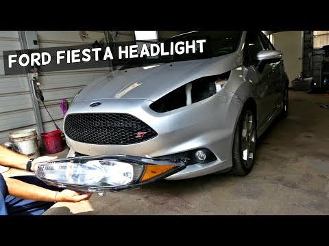 HOW TO REMOVE AND REPLACE FRONT HEADLIGHT ON FORD FIESTA ST
