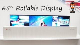 "65"" Rollable TV by LG Display Demo at CES 2018"