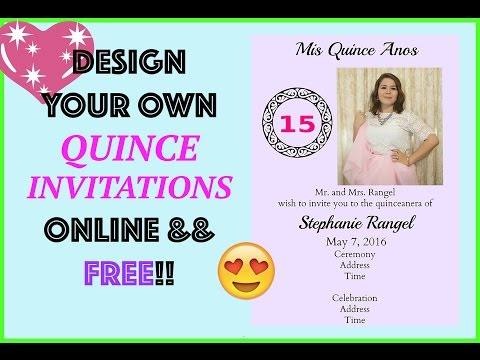 FREE INVITATION Design Online Quince/Wedding by MyQuinceanera DIY