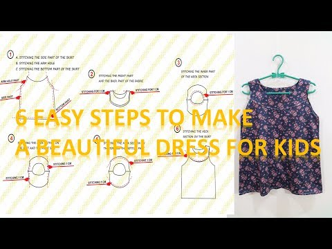 How to make a dress pattern and sew a beautiful and simple dress for for beginner using portable min