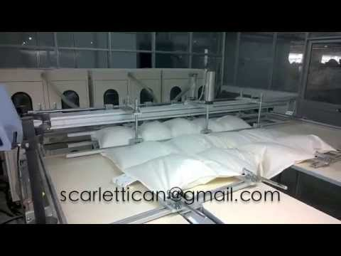 Fully automatic down feather quilts comforter filling machine with automatic weighing